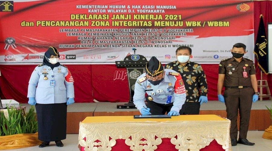 Deklarasikan Janji Kinerja, UPT PAS Siap Wujudkan WBK/WBBM