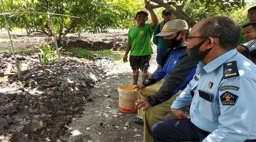 Lapas Sampit Siapkan Kolam Tanah untuk Budidaya Ikan Tawar