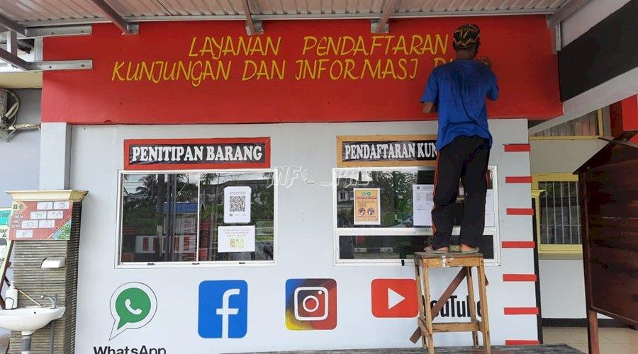 Rutan Kuala Kapuas Promosikan Akun Sosmed via Lukisan WBP
