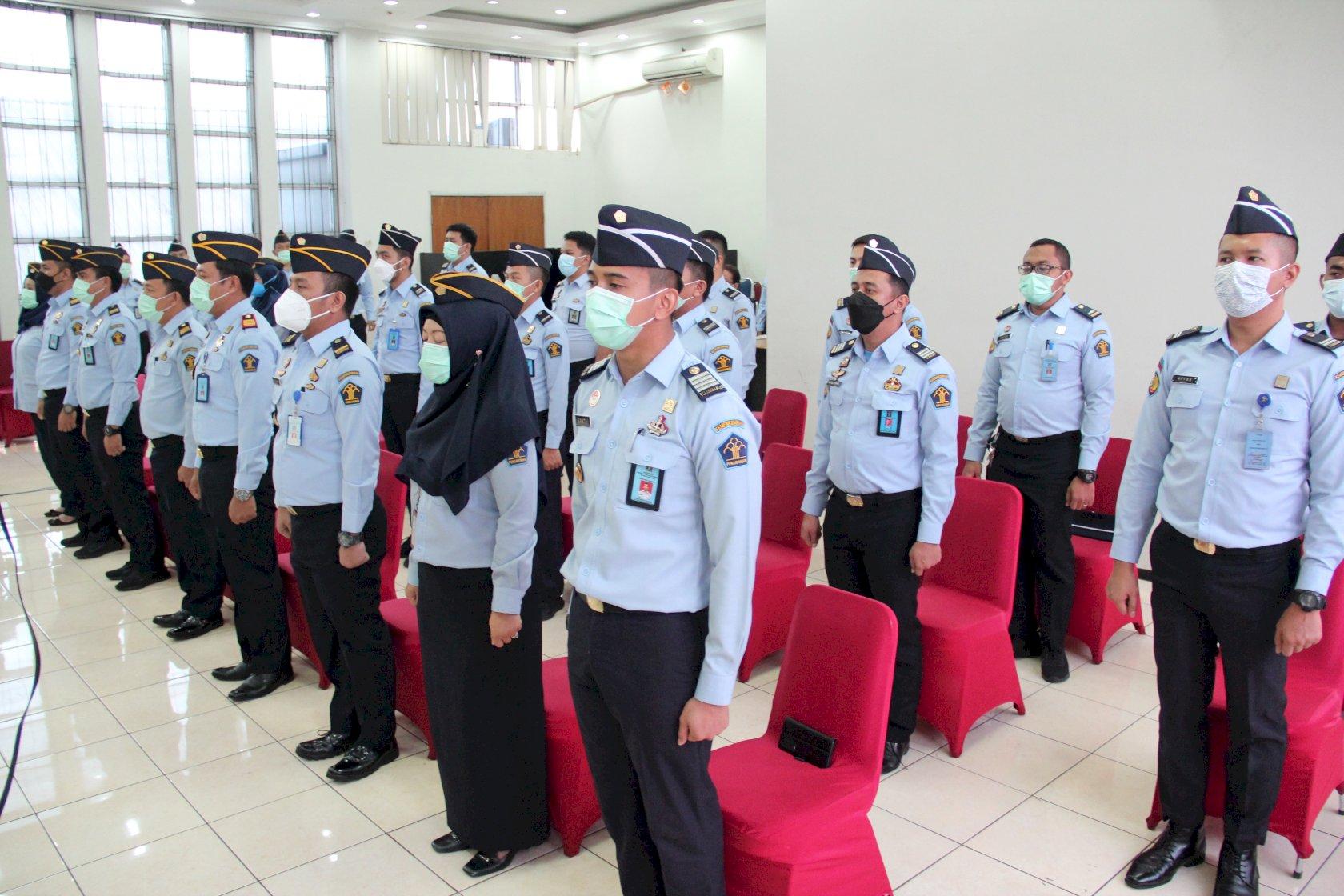 Wujudkan WBK-WBBM, Rutan Cipinang Gelar Deklarasi Janji Kinerja 2021