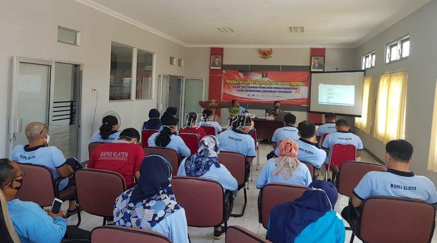 Bapas Klaten Tingkatkan Kapasitas Penggunaan Bhs. Indonesia dalam Penyusunan Litmas