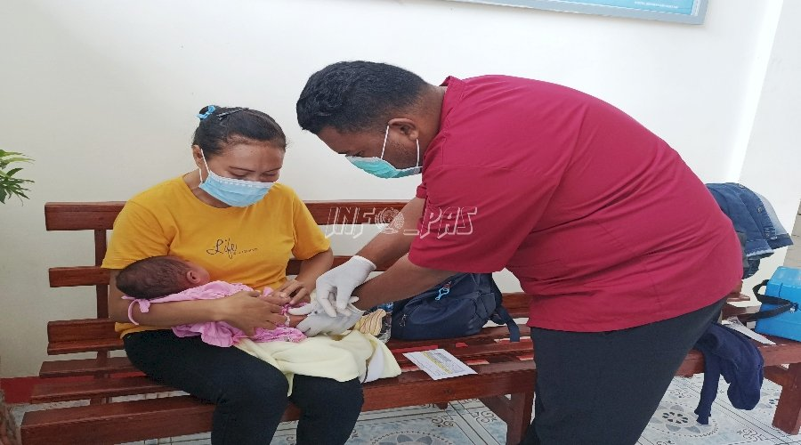 Bayi WBP Lapas Saumlaki Dapat Layanan Imunisasi