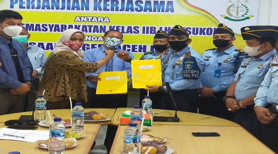 Lapas Lhoksukon Sepakati MoU dengan Kejari Aceh Utara
