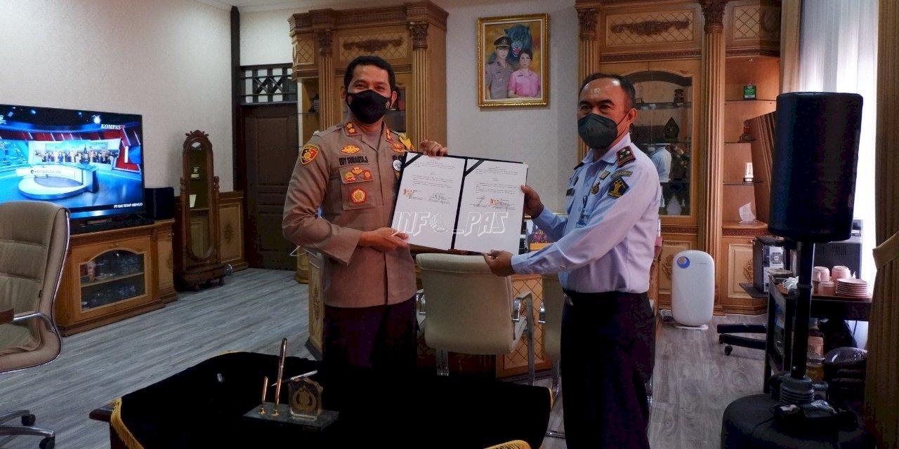 Bapas & Polres Klaten Sepakati PKS Pengawasan Klien Pemasyarakatan