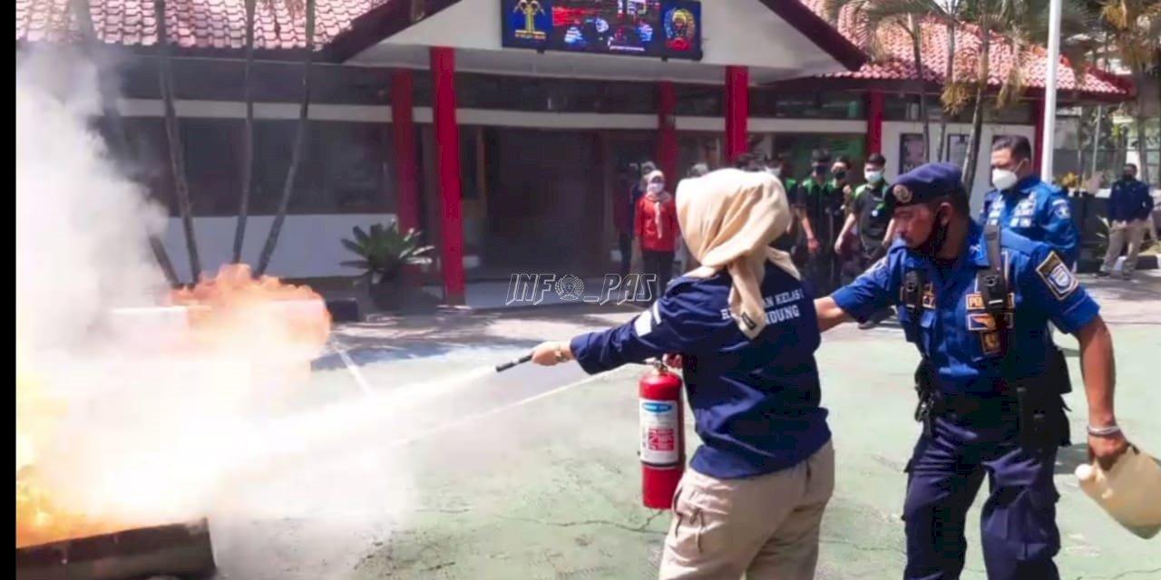 Rupbasan Bandung Gelar Pelatihan Keterampilan Penanggulangan Kebakaran