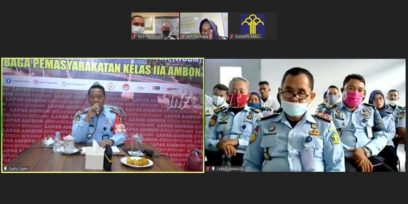 Jarak Tak Jadi Masalah, Plt. Kadivpas Maluku Temui Jajaran Lapas Namlea Lewat Zoom