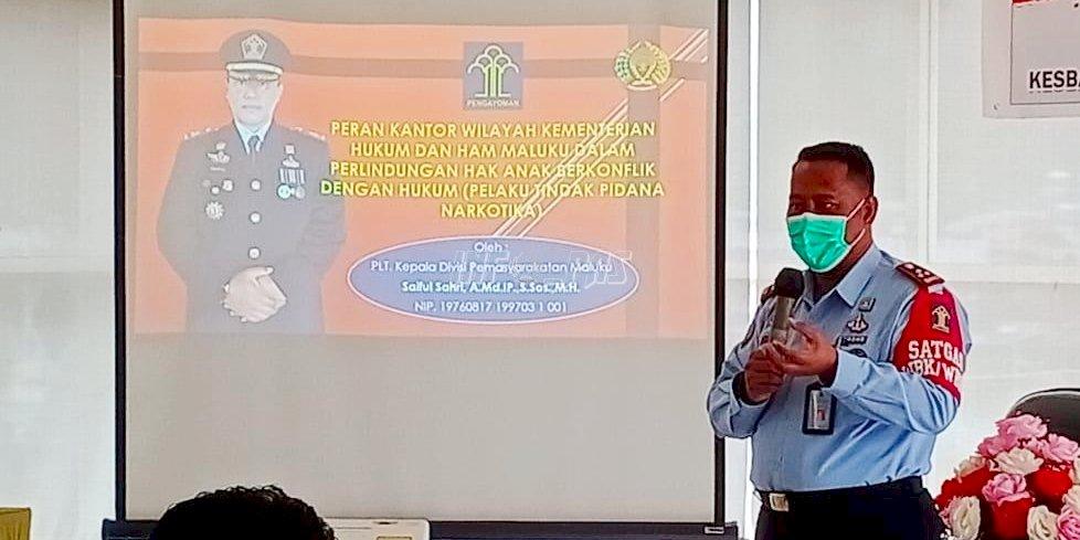 Jadi Narasumber Penyuluhan Narkoba di Kalangan Pelajar, Plt. Kadivpas Maluku Uraikan Peran Kemenkumham