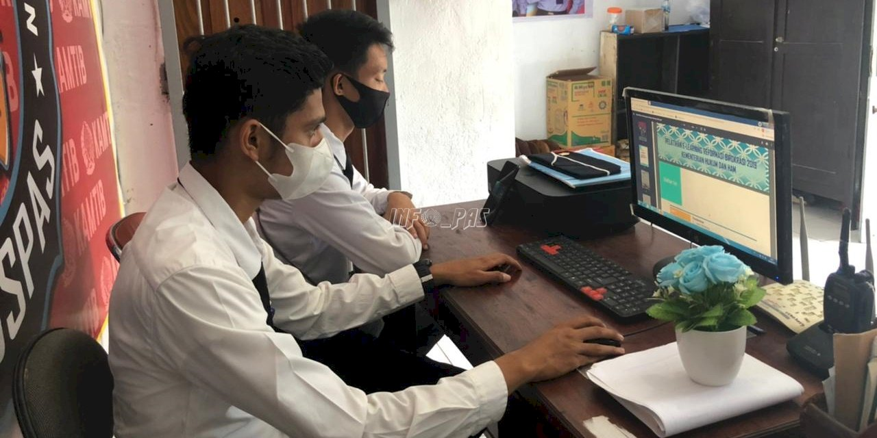 Dua CPNS Lapas Banda Naira Ikuti Kegiatan e-Learning