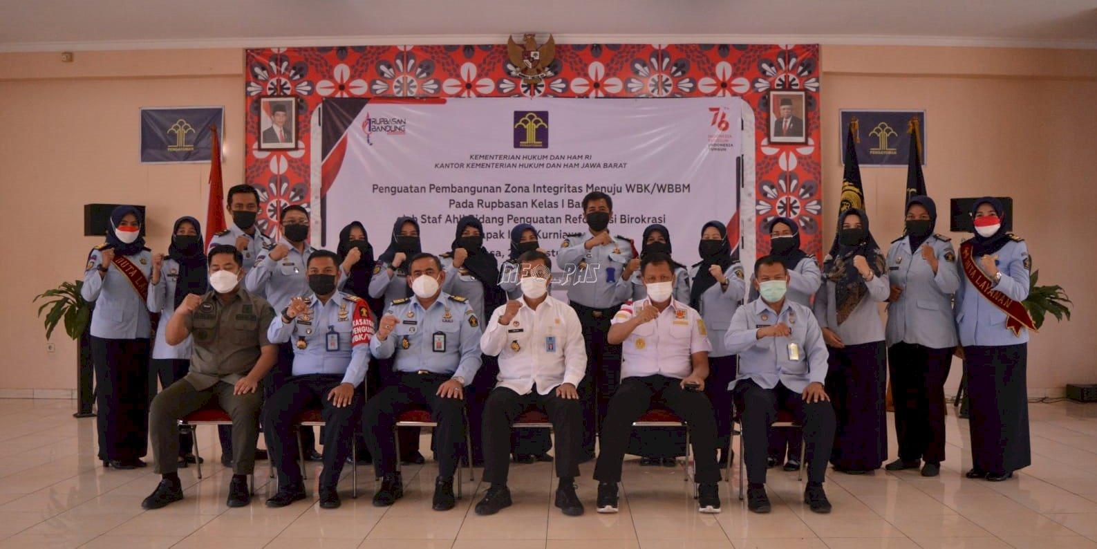 Staf Ahli Menteri Bidang Penguatan RB Puji Pencapaian Rupbasan Bandung