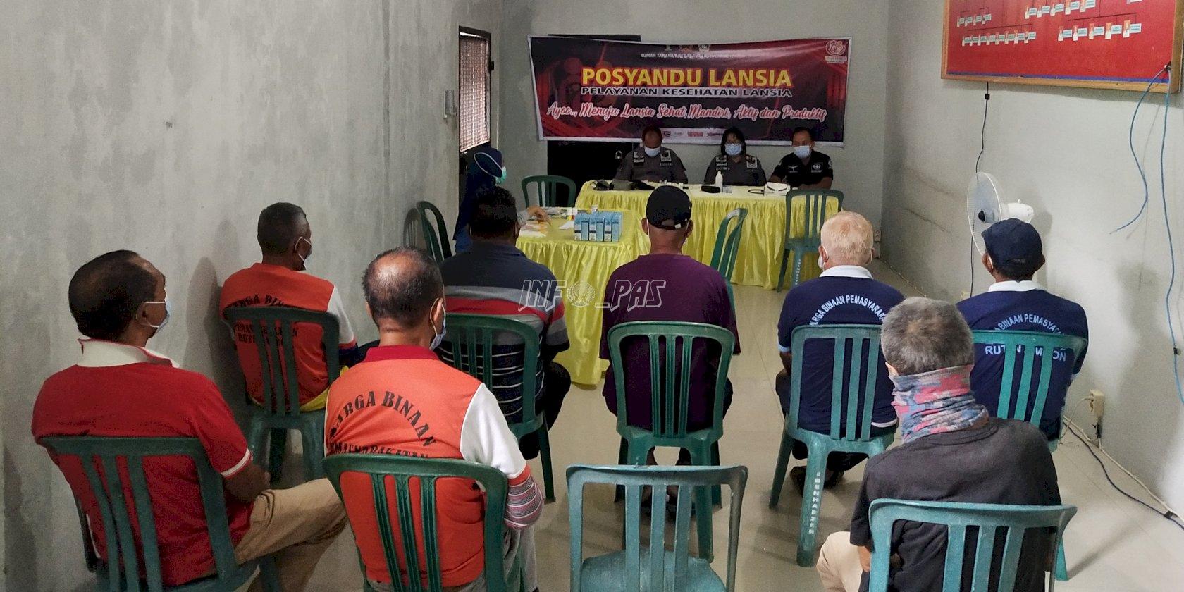 Peduli WBP Lansia, Rutan Ambon Kembali Hadirkan Posyandu Lansia
