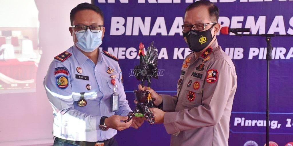 Penutupan Rehab Medis dan Sosialisasi P4GN Rutan Pinrang Dihadiri Langsung Kepala BNNP Sulsel